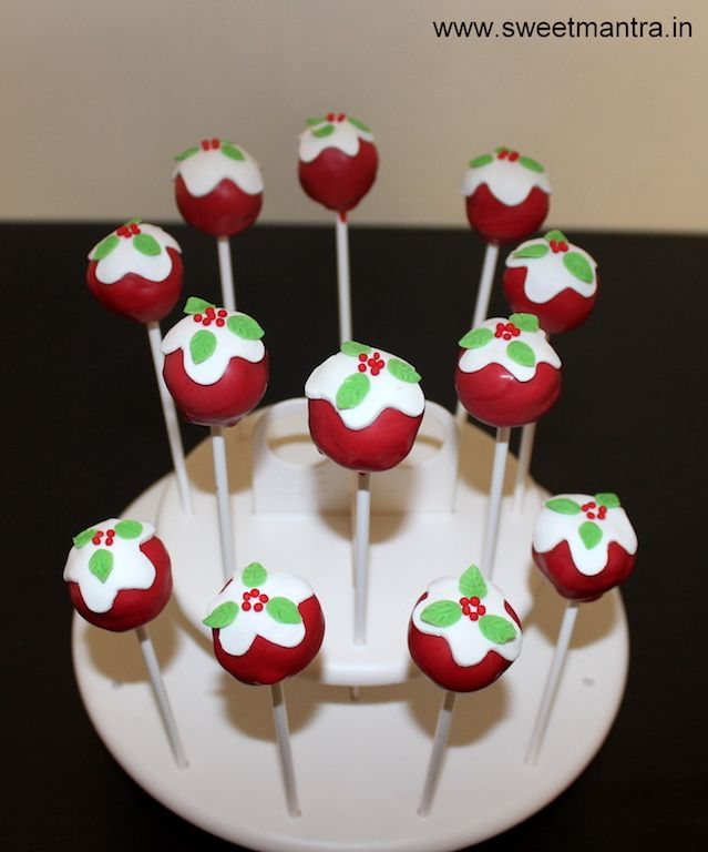 Christmas theme Cake Pops for boy's 1st birthday party at Pune