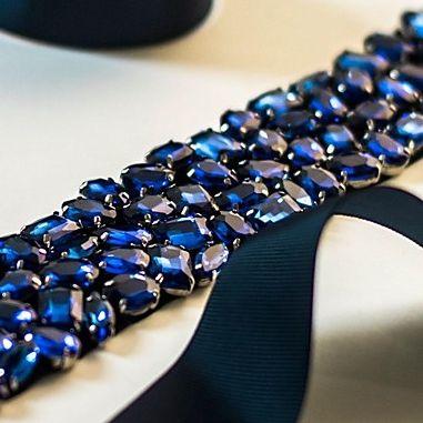 Cinto faixa com pedraria na cor azul royal para vestido de festa. Tamanho…
