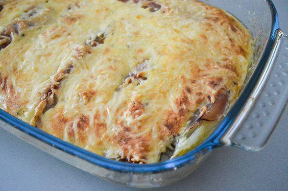 Recept: witlofschotel met ham, kaas en ei