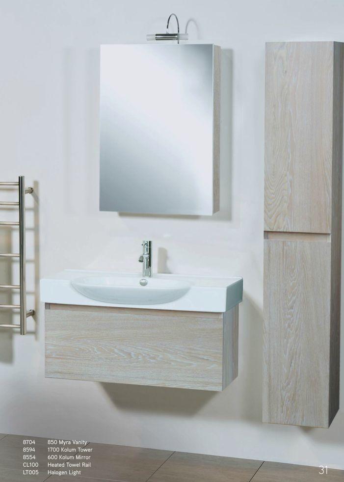 Newtech - Myra Vanity, Kolum Tower, Kolum Mirror & heated towel rail
