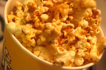 Spicy Cajun Popcorn 1/4 cup melted butter ? Tasty tip 21/2 qts popcorn ...
