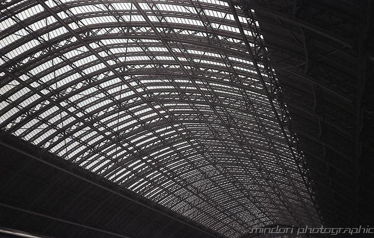 London St Pancras.  Canon Sure Shot Supreme, 35mm, Ilford FP4, Ilford ID11