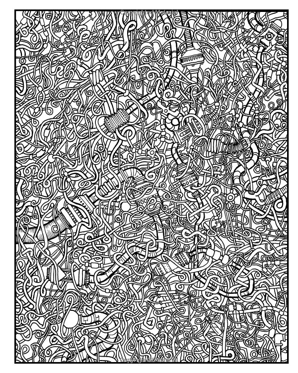 adult level coloring pages - photo#7