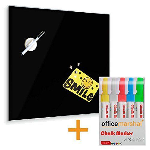 Tableau en verre Master of Boards® en noir   verre de sécurité magnétique - avec marqueurs à craie   taille 45x50cm Master of Boards http://www.amazon.fr/dp/B00OP0MP4K/ref=cm_sw_r_pi_dp_kTfCvb1ZMQ912