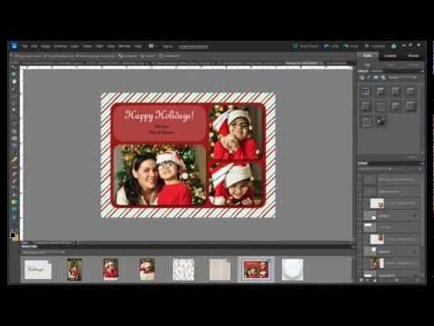 How to make your own Christmas card using PSE. This is a GREAT Photoshop elements tutorial!