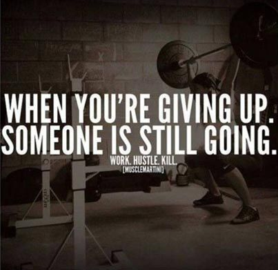 When you're giving up, someone else is still going. #quote #inspiration #motivation