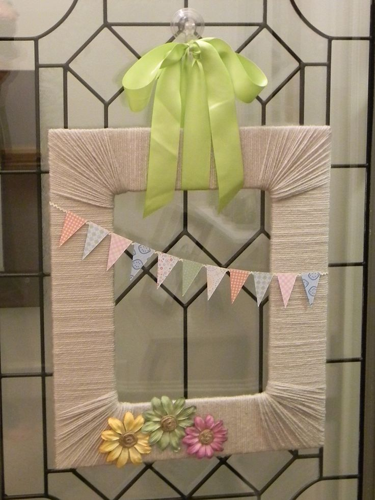 37 Best Images About Craft Picture Frame Wreath On