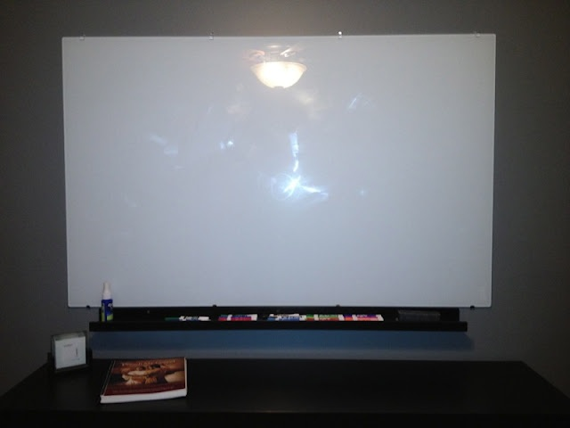 this glass top dry erase board is really an ikea table top. Black Bedroom Furniture Sets. Home Design Ideas