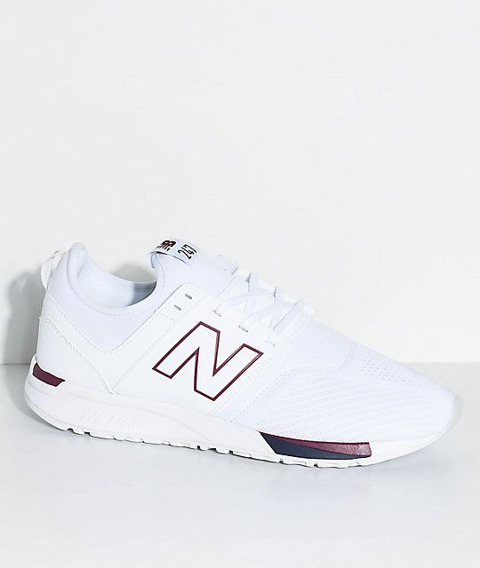 innovative design exclusive range arriving New Balance Lifestyle 247 Classic White & Burgundy Shoes ...