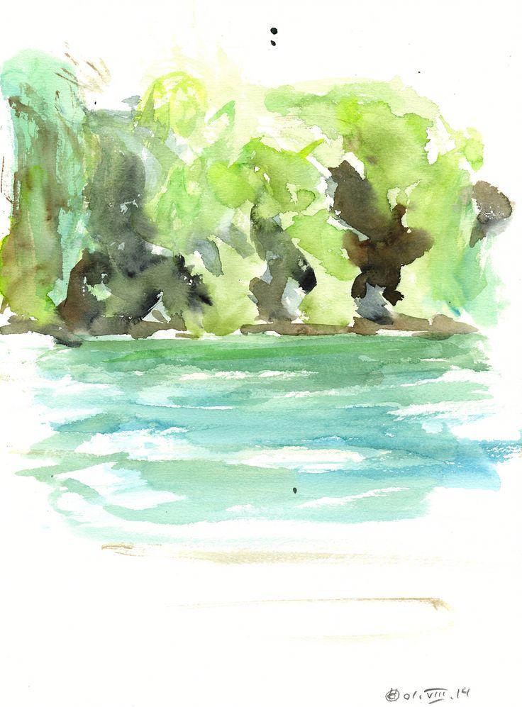 Plötzensee #3 (Berlin) Watercolour on paper | 31x23 cm | 2014 | OCH-A-14-