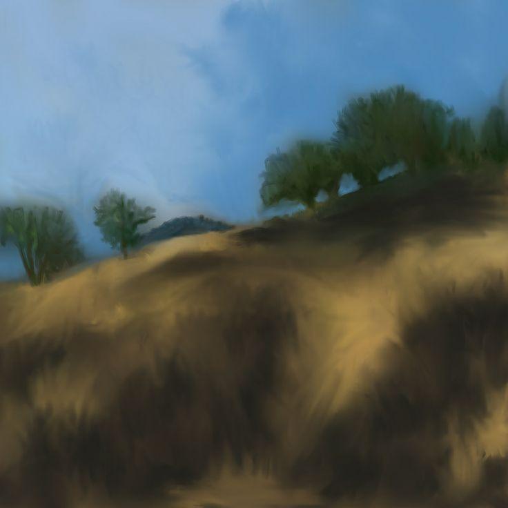 Hwy 152 Landscape, iPad Painting by Jennifer Kretschmer: http://www.jkretschmer.com/pages/30in30.html
