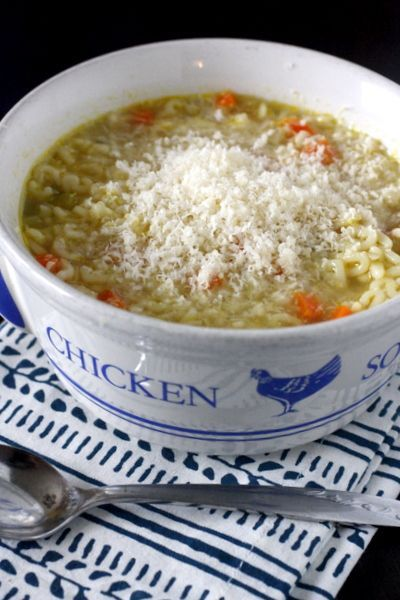 Pastina Soup - an easy noodle soup to make for a chilly autumn night