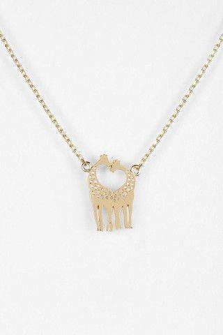 Love Giraffes Necklace. Sweet:)
