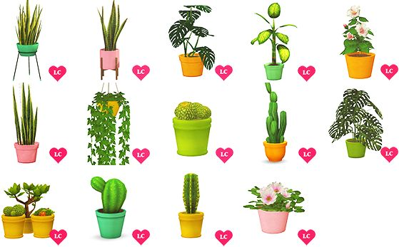 9k Follower gift ♥ - [TS4] Plants Galore!14 meshes recolored and/or converted They all come in 5 colors by Eversims • my conversion - wood for sims/shastakiss hanging philo • my conversion - wood for...