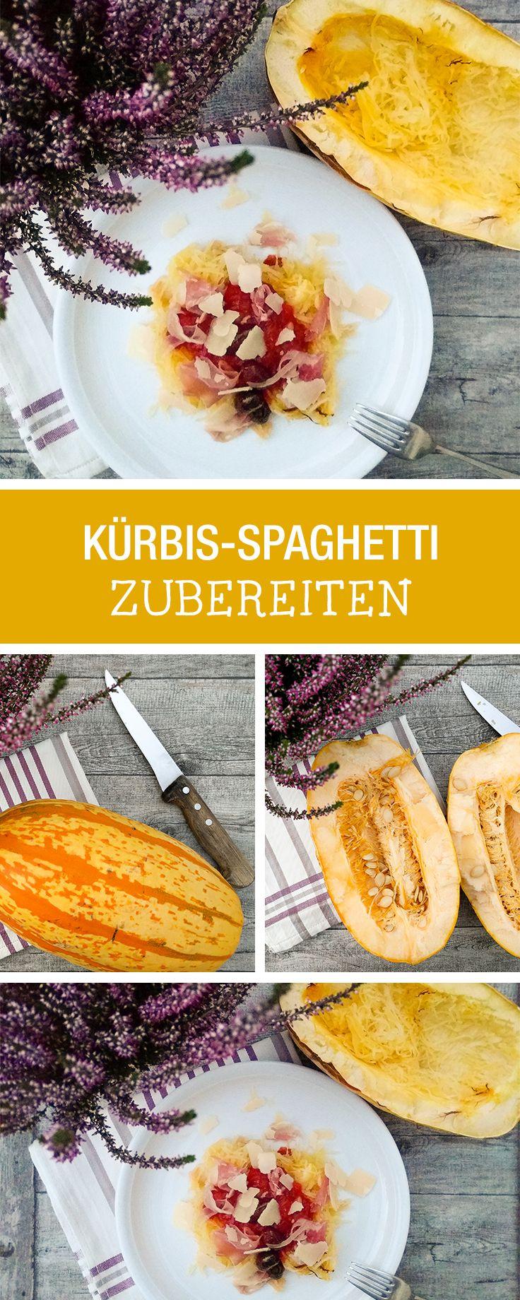 Kennst Du einen Spaghettikürbis? Wir zeigen Dir, wie Du ihn zubereitest / how to cook a spaghetti pumpkin via DaWanda.com