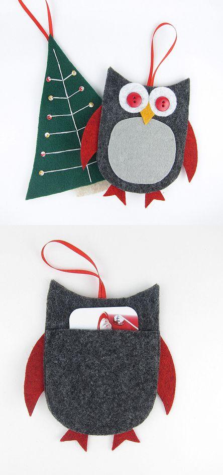 DIY Felt Gift Card Holders for Christmas