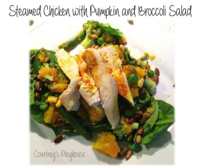Recipe Steamed Chicken with Pumpkin and Broccoli Salad by Courtney84 - Recipe of category Main dishes - others