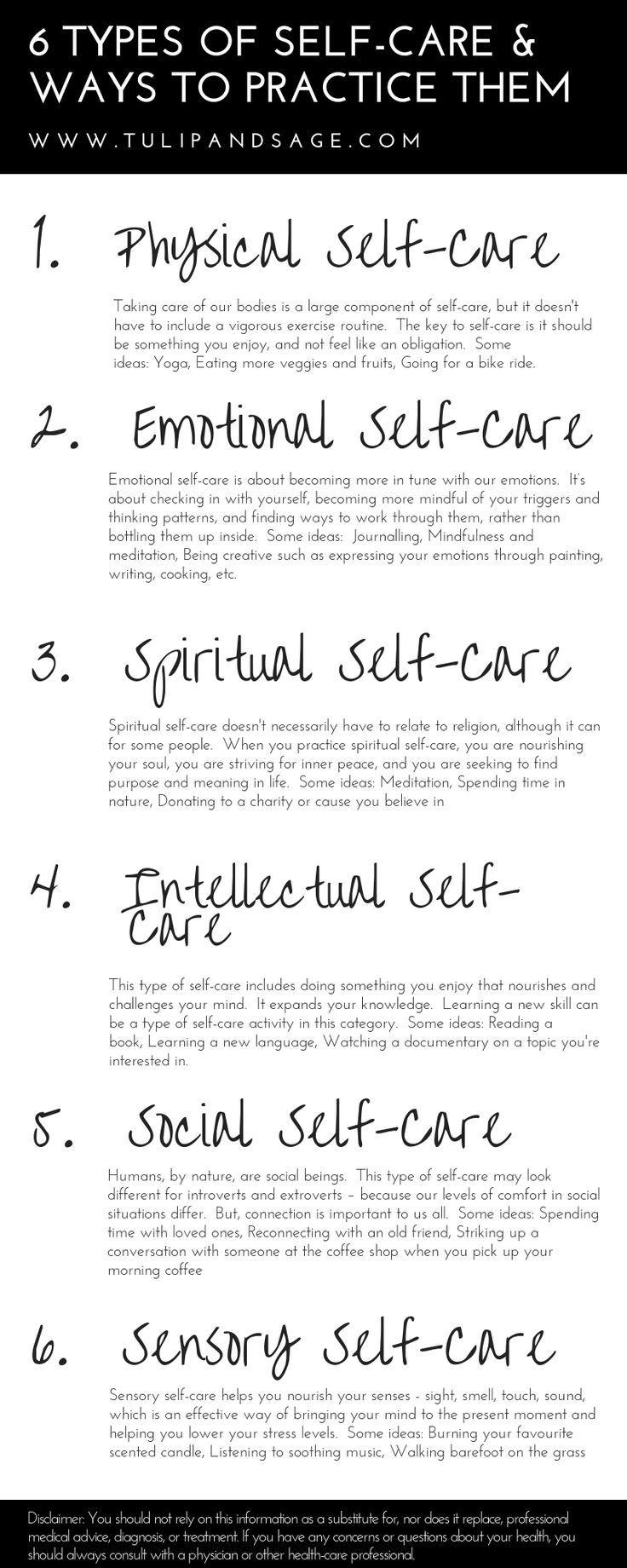 6 Arten von Self-Care & Möglichkeiten, sie zu üben
