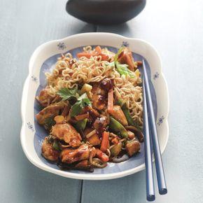 Cassolette asiatique aux nouilles Recette | Weight Watchers Belgique