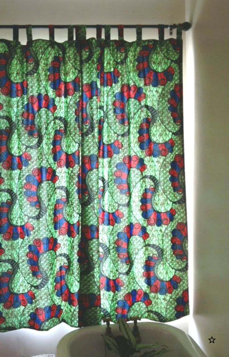 African Fabric Chitenge Bathroom Curtains