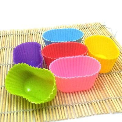 3D Oval Silicone Baking Mold Mould Cup Cake Muffin Jelly Dessert Chocolate Soap | eBay