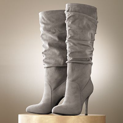 grey boots! an essential for this fall!: Suede Boots, Fashion, Jennifer Lopez, Style, Tall Boots, Closet, Kohls, Grey Boots, Shoes Shoes