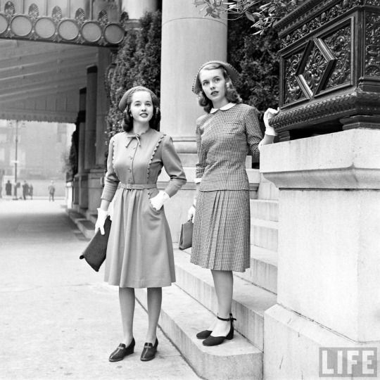 College Dresses  by Nina Leen 1940's