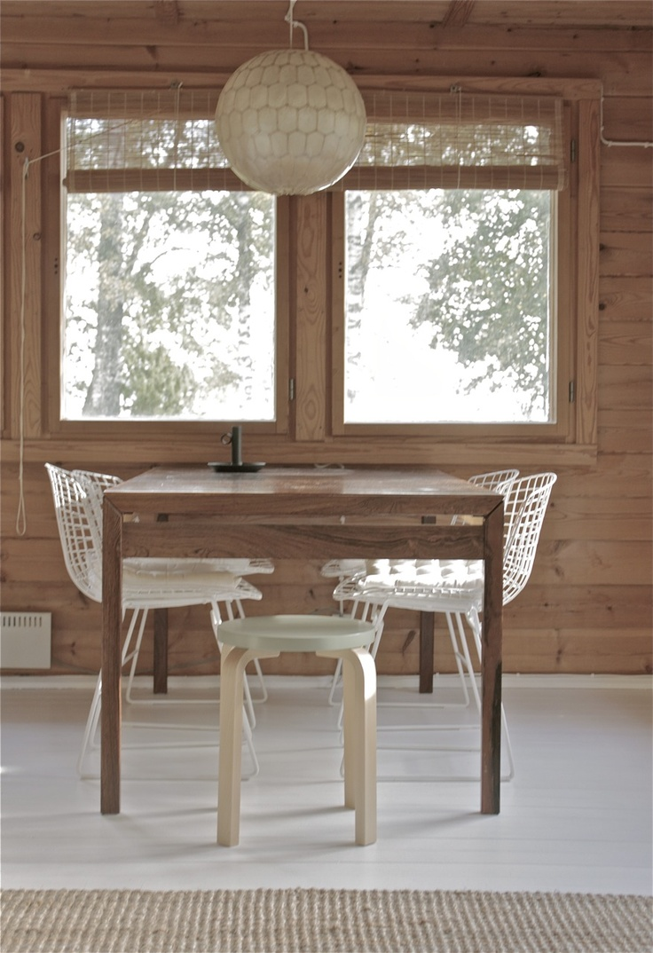 Living room and Aalto stool. From the blog Time of the Aquarius.