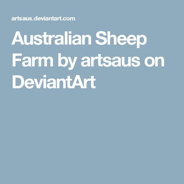 Australian Sheep Farm by artsaus on DeviantArt