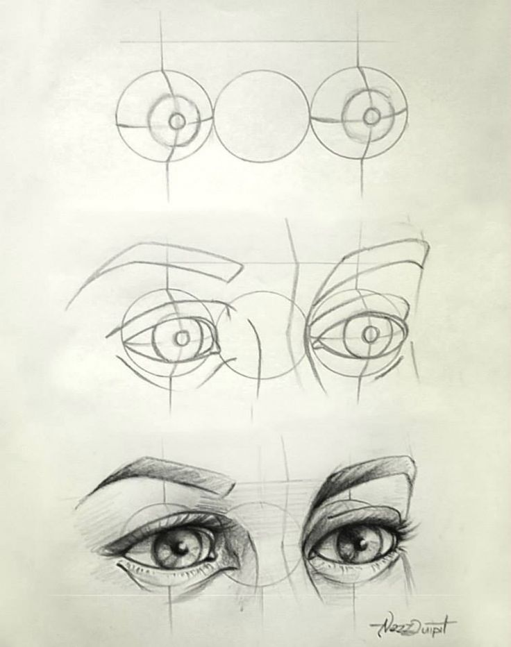 Eye Drawing Tips - I love how quickly this escalates. It's like: well first ya got yer guidelines here, those'll help ya get started. Then yer gunna wanna sketch up a rough version of what yer goin fer AND THEN PERFECTION ONLY PERFECTION. But seriously helpful.