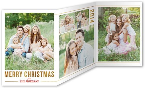 Golden Greeting 5x7 Tri-Fold Stationery Card by Yours Truly