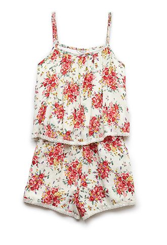 Trace of Lace Floral Romper (Kids) | FOREVER21 girls - 2000124454