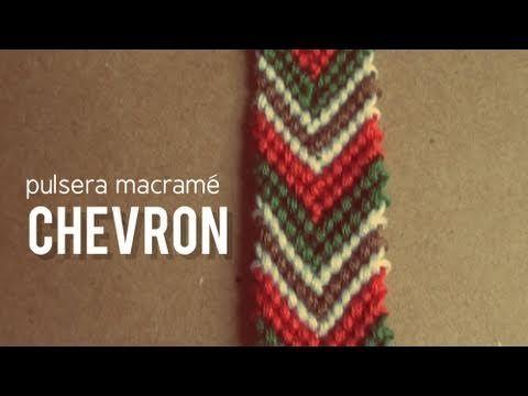 Pulsera Macrame: Chevron / flecha