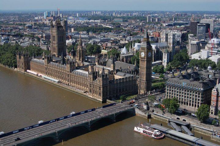 London Eye pohľad, s najlepšími výhľadmi v Londýne, Anglicko, Veľká Británia