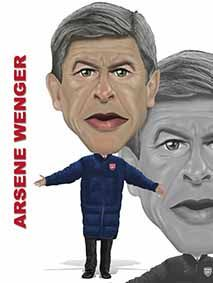 Arsene Wenger Caricature, how will the gunners do this season? You can buy this on A3 photo paper or on a boxed A3 canvas.