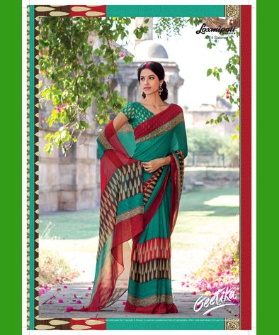 Buy our latest Multicoloured Georgette Saree for your especial occasion like casual, daily, #officewear_saree at very reasonable prices which will be suit with your budget. Shop now @http://bit.ly/1WeVhtp