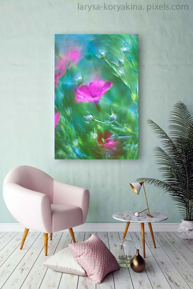 Art Print featuring the photograph Summer Song by Larysa Koryakina. Available in many sizes and in Acrylic, Metal, Canvas, Framed, Wood and Standard Print. Photography Art design for Office and Home Decor.