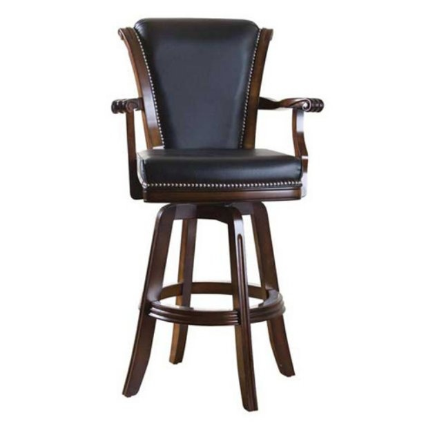 Kingsbury 30 Inch Swivel Bar Stool With Arms Bar Stools