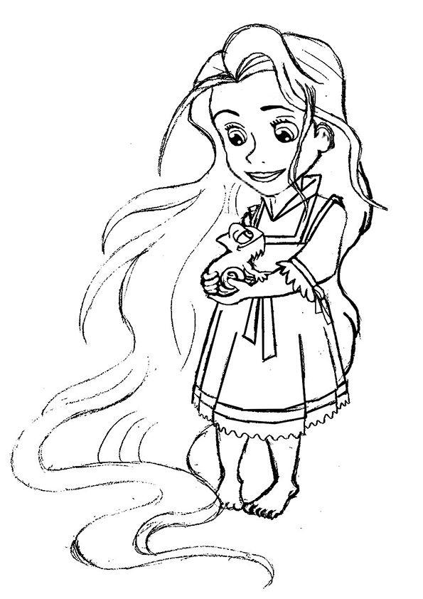 ausmalbilderdisneybaby8  rapunzel coloring pages cute