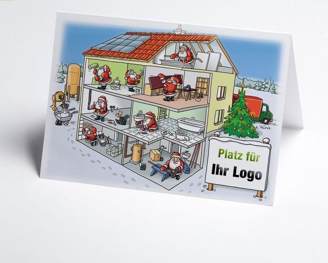 lustige gezeichnete branchenkarte mit logofeld firmenlogo prominent auf der vorderseite. Black Bedroom Furniture Sets. Home Design Ideas