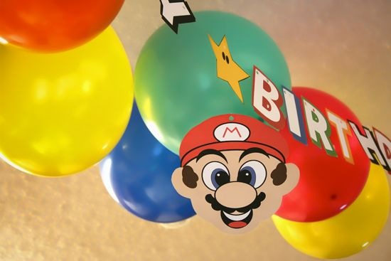 free printable mario brothers happy birthday banner party decorations decor frugal cheap