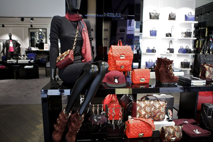 It is all about red, quilted accessories for #AW14 at @karllagerfeld on #RegentStreet.