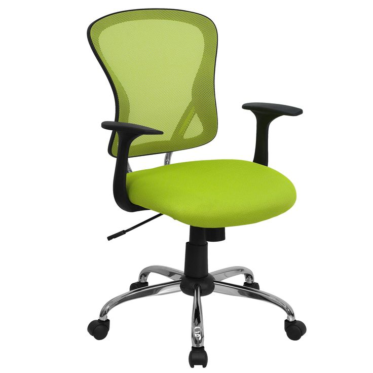 The U201cFlareu201d These Cool Desk Chairs (in Green) Sport A Contemporary Open