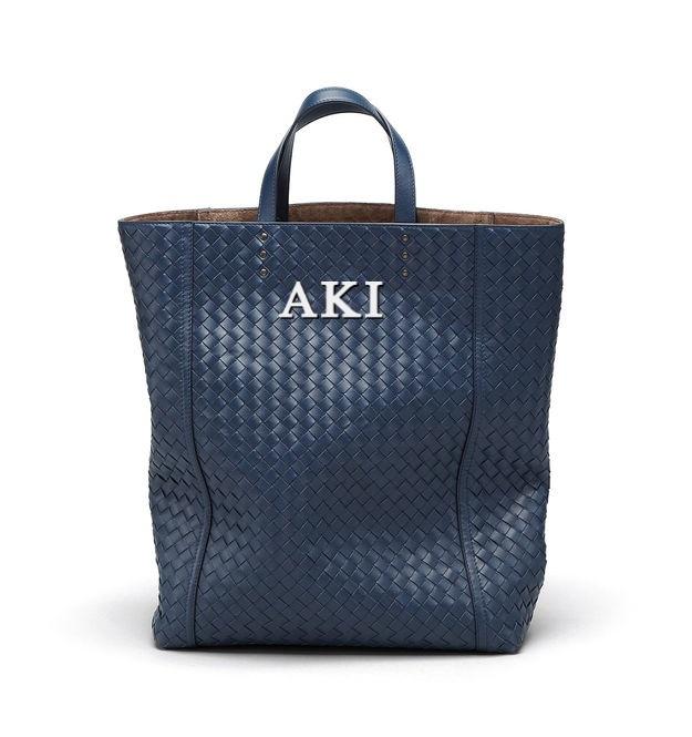 Bottega x Aki: Personalized Service, Initials Personalized, Bottega Veneta, Totes Bags, Men Bags, Vn Totes, Nero Intrecciato, Initials Products, Bottegaveneta Initials