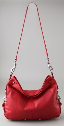 Red crossover purse
