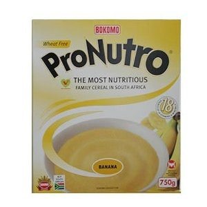 ProNutro banana flavour.  This isn't the box design of my youth, but the taste of the cereal is the same.  My favourite breakfast food by far.  A Rhodesian morning without ProNutro was not off to a good start.