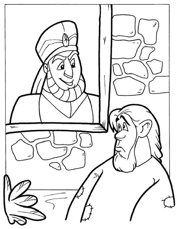 El rico y Lázaro - Página para colorear