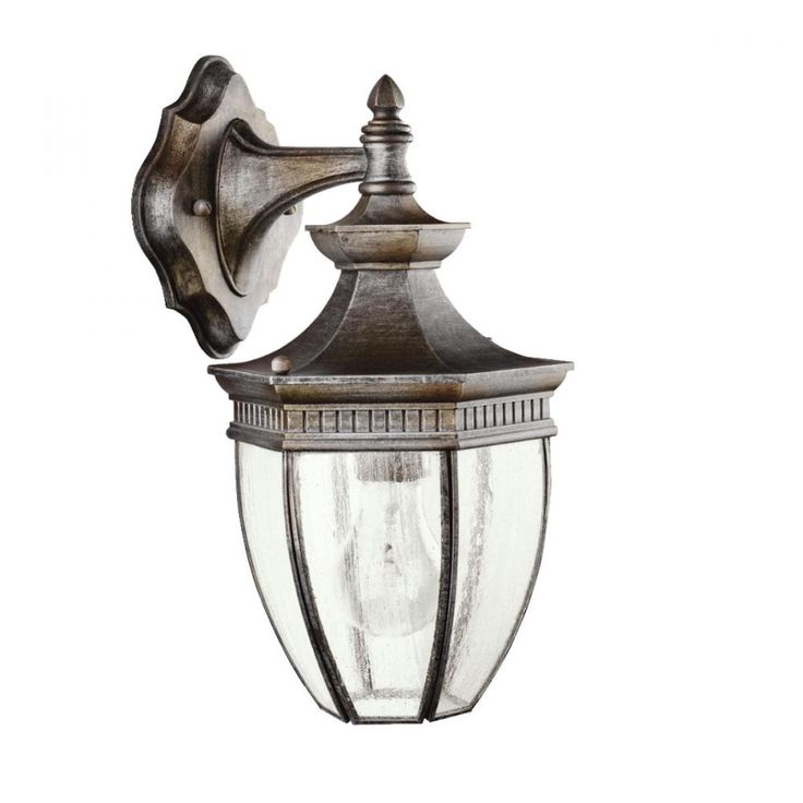 kichler lighting outdoor sconce. warrington outdoor wall 1 light shown in tannery bronze by kichler lighting sconce