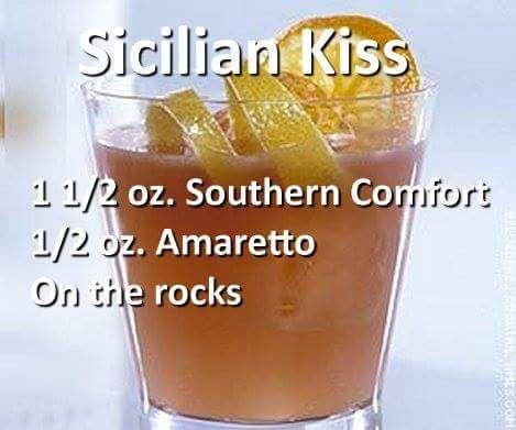 Sicilian Kiss Mixed Drink
