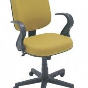 Cadeira Escrivaninha Giratória Escritório Costurada Cromada Gomada